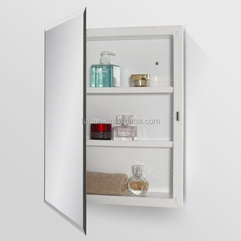 Good Price Wall Mounted Single Door Plastic Mirror Cabinet