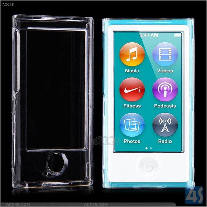 Front and Back Hard Crystal Case Cover for Apple iPod Nano 7 8