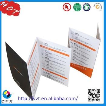 2014 new design advertise catalog flyersleafletpamphletbrochure printing