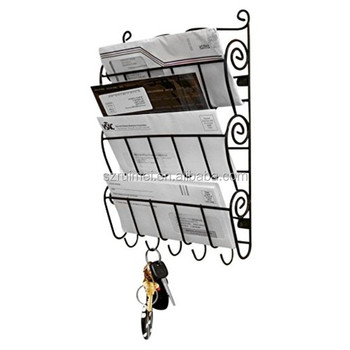 office key holder. 3 tier office kitchen wall mount organizer letter rack and key holder ,