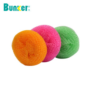 kitchen cleaning plastic pp mesh scourer