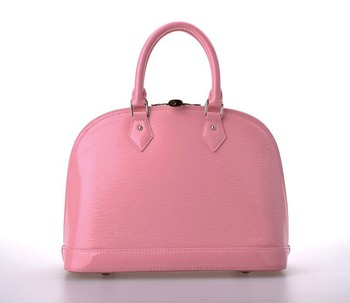 Famous Luxury Brand Designer Handbag Water Ripple Real Leather Women Pink Shell Tote Bag