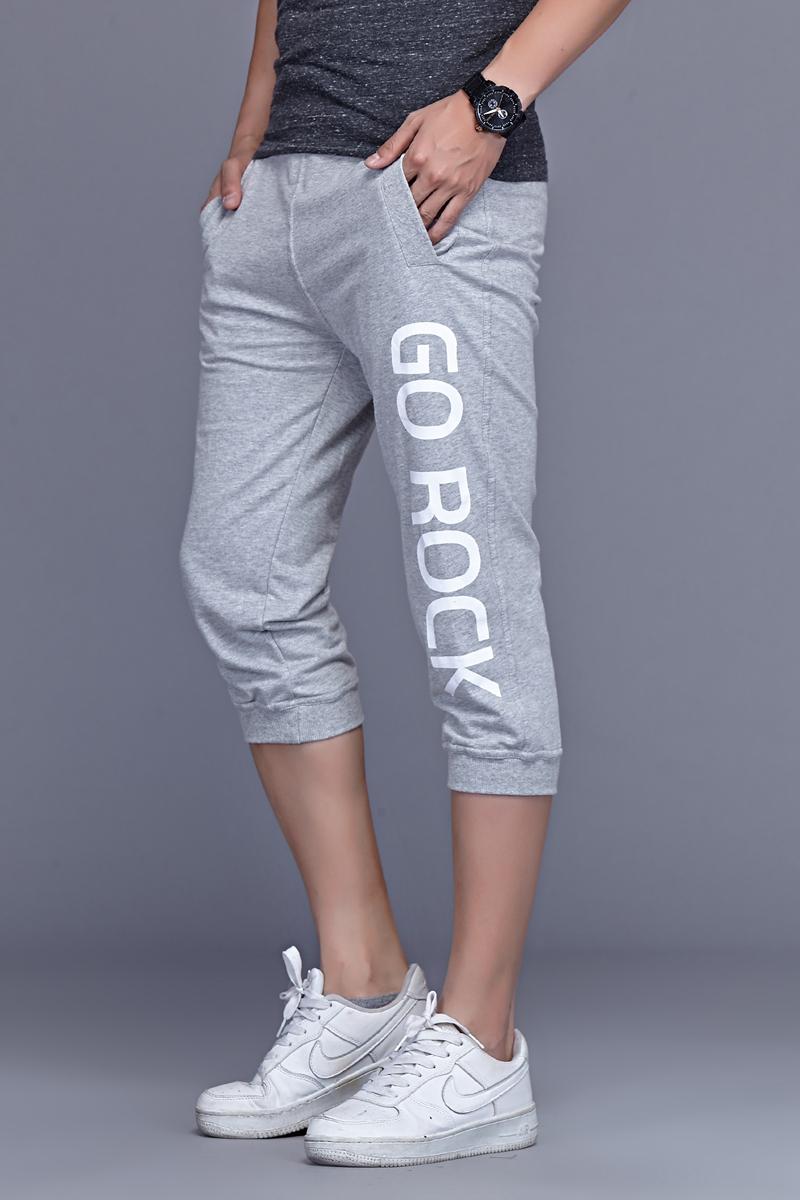 db7d876826e Yihao 2015 ファッションメンズスポーツパンツカジュアル服のズボンプラスサイズのプリントショートジム