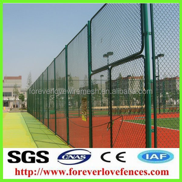 Galvanized+PVC coated Basketball/Football chain link wire mesh/wire mesh fence