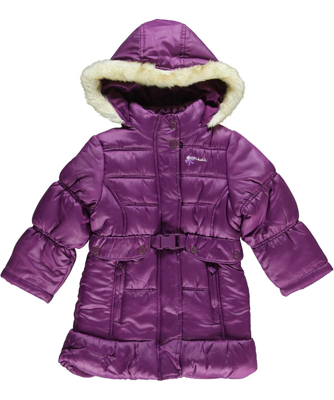 Osh Kosh Bgosh Toddler Girls Purple Long Cut Outerwear Coat