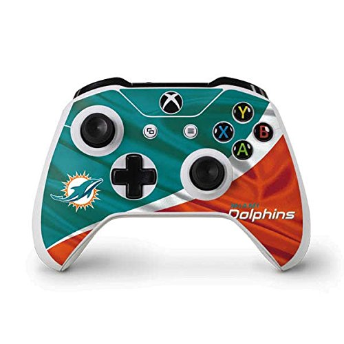 NFL Miami Dolphins Xbox One S Controller Skin - Miami Flag Design Vinyl Decal Skin For Your Xbox One S Controller