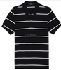 yarn dyed stripe polo shirt mens casual workwear t shirt