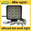 high power 48w offroad led work light for tractors, trucks, pickup