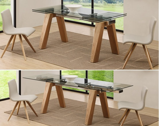 Hot Sale Dining Table Expandable Table With Solid Wood Leg Factory Sells Directly