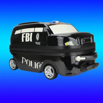 cd890eb51 Barato lindo escuela mochilas para niños adolescentes, niños patrulla  Policía forma del coche carro de