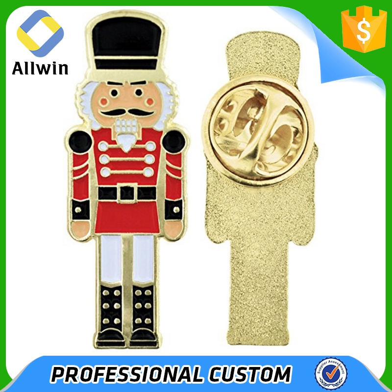 Wholesale Soft Enamel Gold Metal Soldier Decoration Pin Badge
