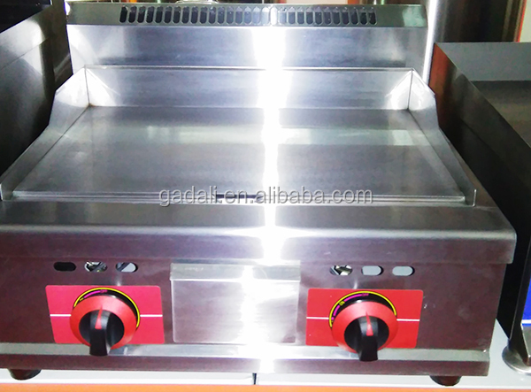 Commercial stainless steel flat plate natural gas grill griddle