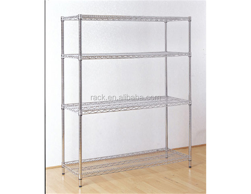 NSF 4 Tiers #304 Stainless Steel Wire Shelving Rack -15 Years Manufacturer - Nsf 4 Tiers #304 Stainless Steel Wire Shelving Rack -15 Years