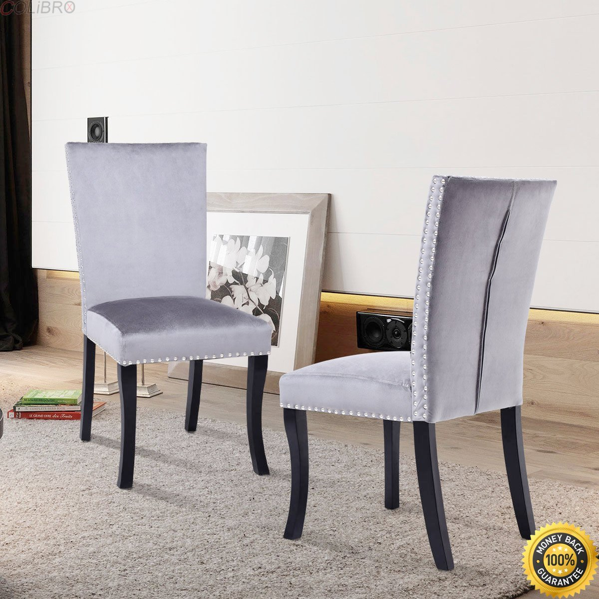 nailhead dining room chairs value city furniture get quotations colibroxset of dining chairs nailhead upholstered padded seat armless solid wood legs cheap linen chairs find