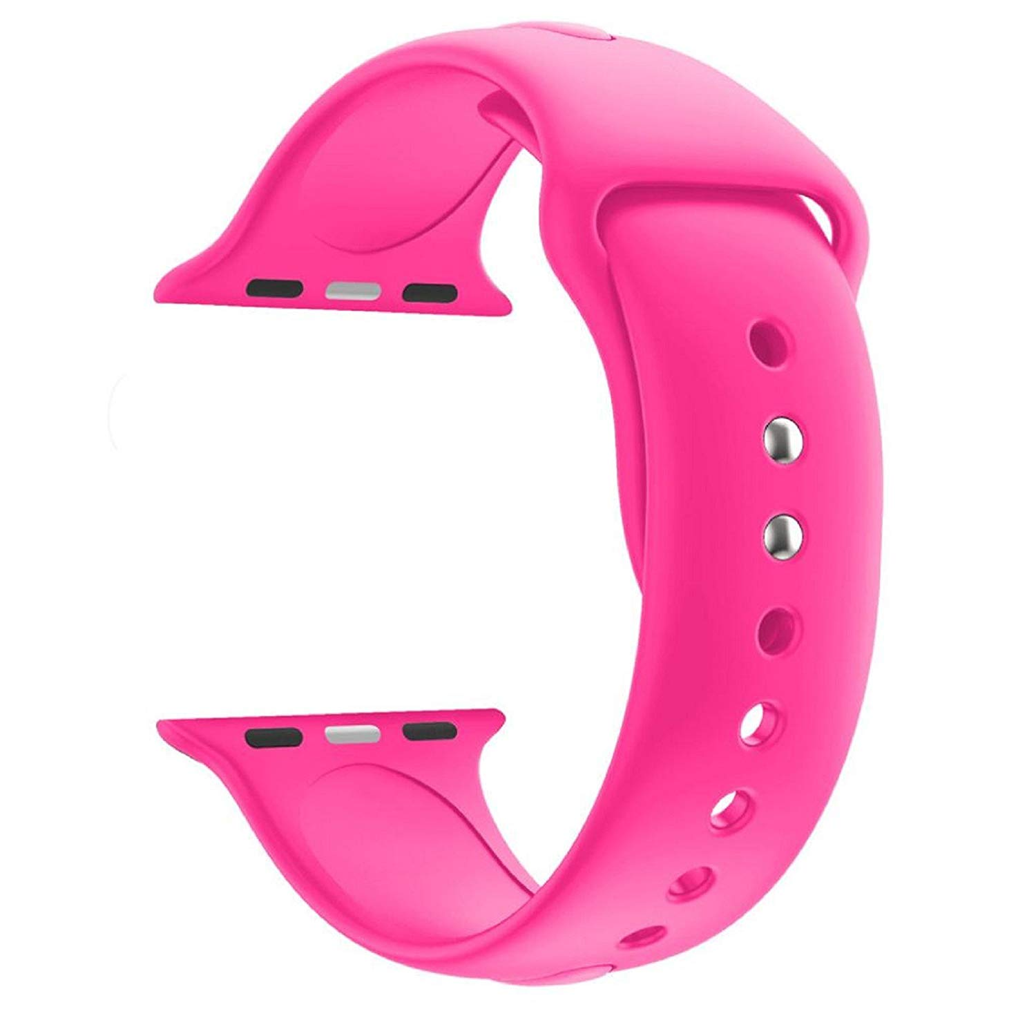 Owill Fashion Sports Soft Silicone Replacement Sports Band Wrist Strap For Apple Watch Series 3 38MM, Wrist Circumference: 140MM-185MM (Pink)