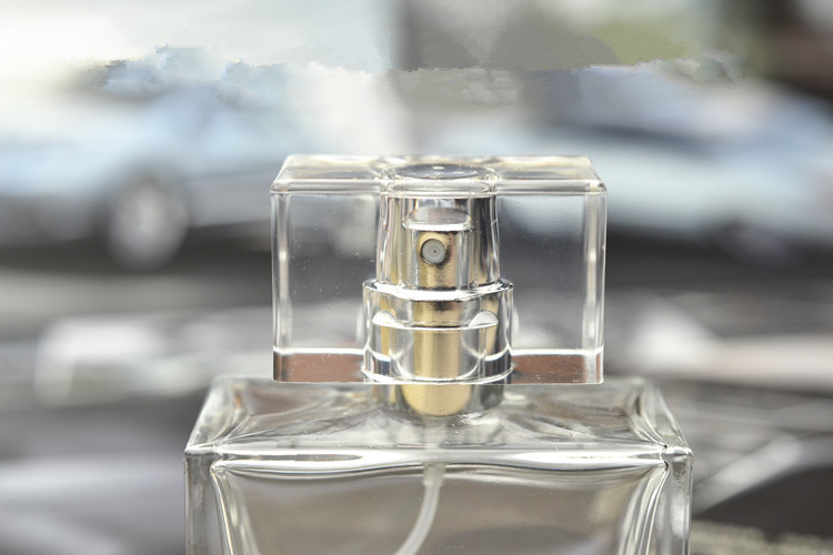 5ml 10ml square shaped transparent Car hanging Perfume glass Bottles