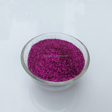 manufactory bulk glitter powder in rose red color for craft decoration