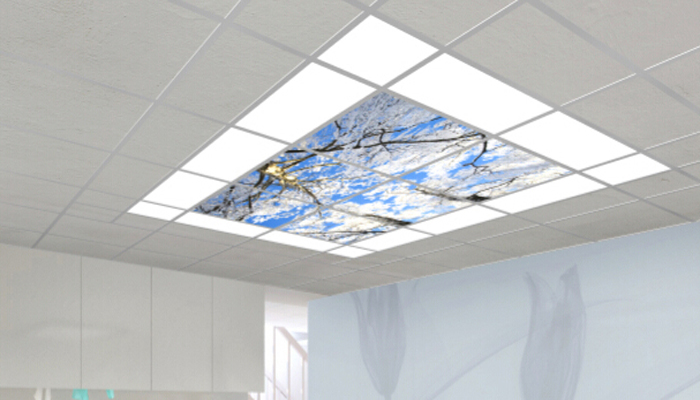 36w 600x600mm 50mm Thickness Blue Sky With Cloud Scenery Frameless Led Panel Light Buy