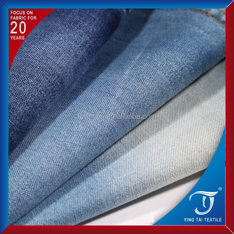 mercerizing surface very comfortable for wearing 98% cotton 2% spandex denim fabric