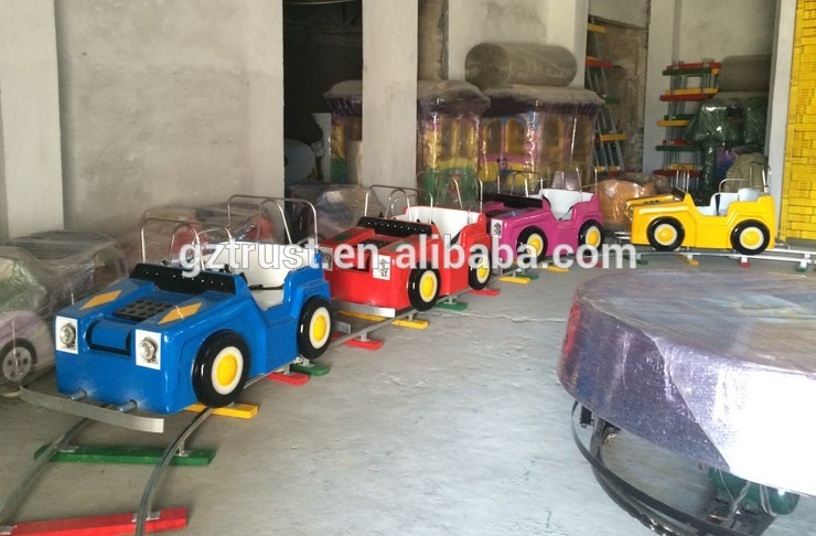 Outdoor track tour carousel ride on train for kids electric train