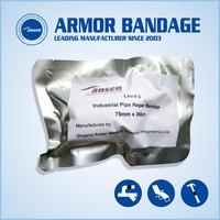 Ansen best selling 100mm 4.6m Black Pipe Wrap Repair Bandage Fix it Wrap Fiberglass Seal Tape