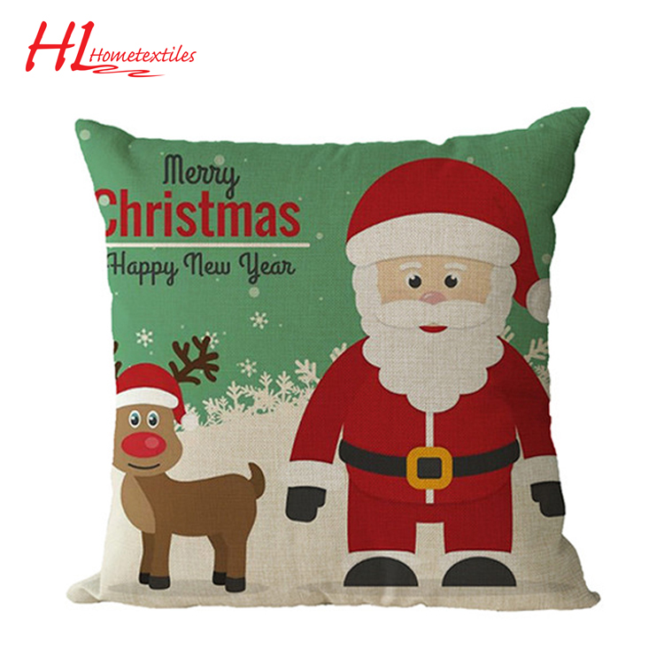 Proper price promotional digital print cushion, christmas throw pillow