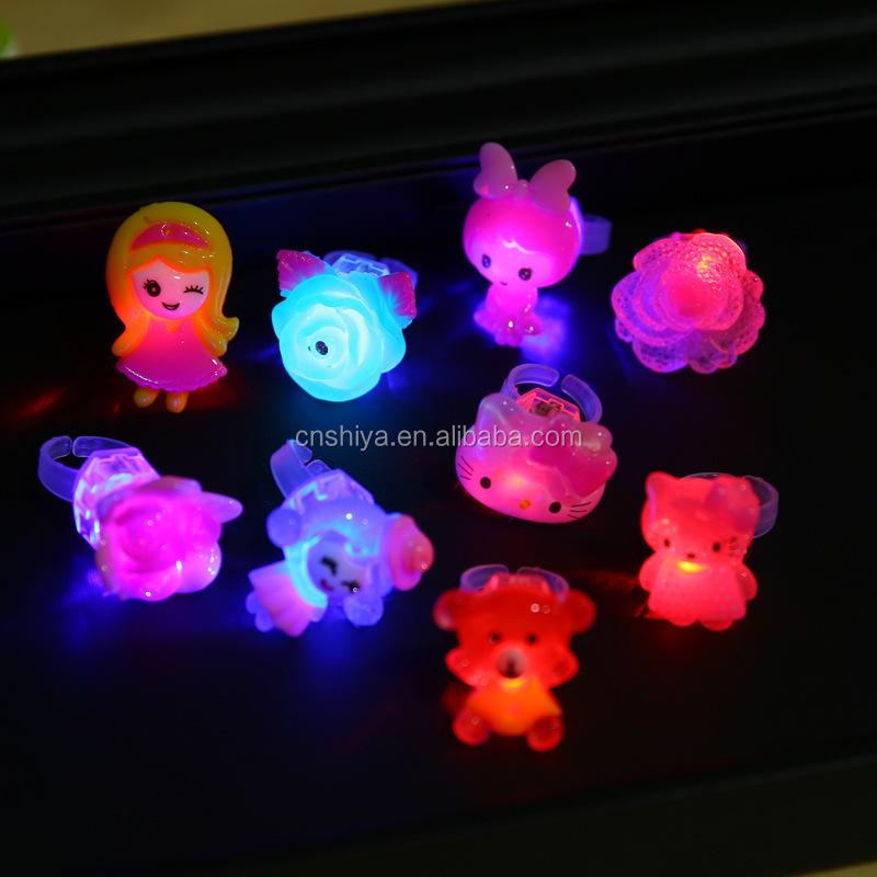 2019 Hot Sale Glowing Translucence Led Acrylic Ring,Christmas Kids Led  Rings,Cartoon Emoji Finger Ring - Buy Led Ring,Cartoon Emoji Pvc Finger
