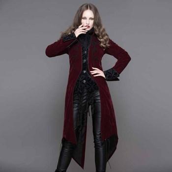 Vestido largo con abrigo largo