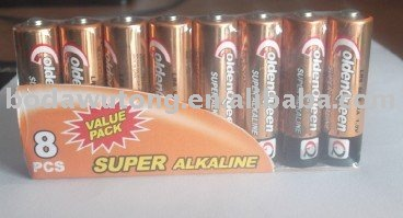 8 pcs alkaline battery pack