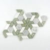marble green onyx and white waterjet tile wall mosaic