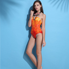 New arrival fashion swimsuit adult one piece printing custom swimwear