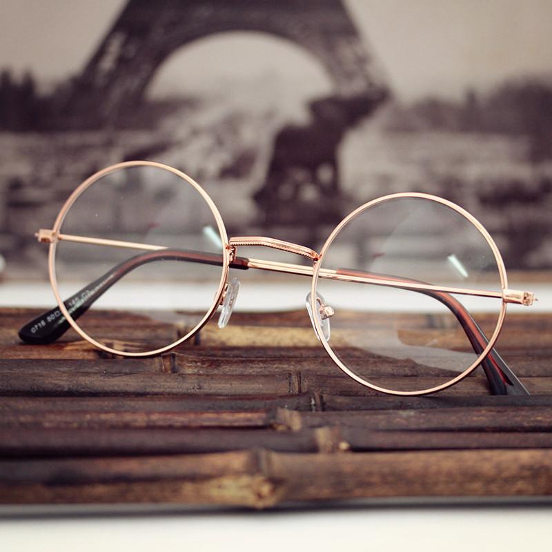 Al por mayor IVE gafas de lectura espejo redondo lente no grado ...