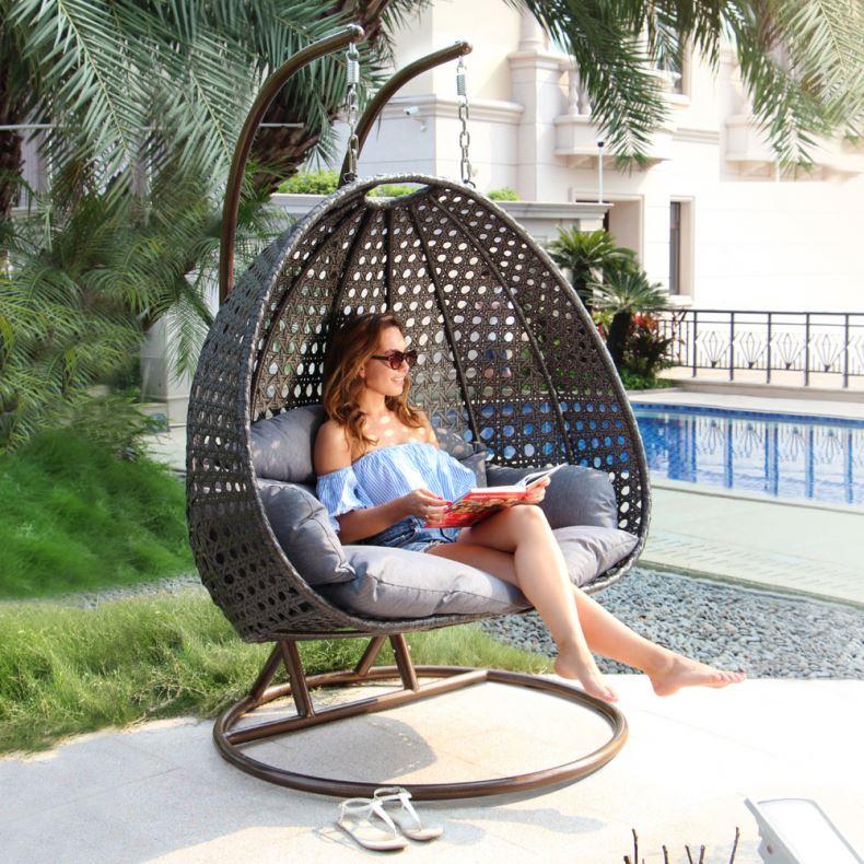 Strong Swing Seat 2 Seater Garden Hanging Rattan Swing 3 Seats Chair
