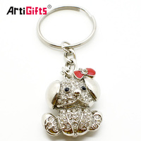 Metal Animal Shaped Mold Blank Sublimation Bling Dog Keychain