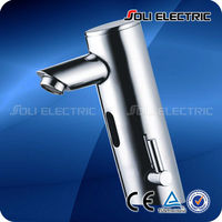 Automatic Sensor Bathroom Faucet Mixer With Temperature Control Handle