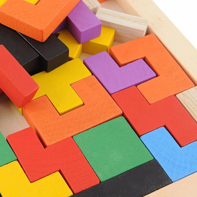 2016 hot sell Wooden Tangram Brain Teaser Puzzle Toys Tetris Game Educational Kid Toy Children Gift Baby Kid's Toy