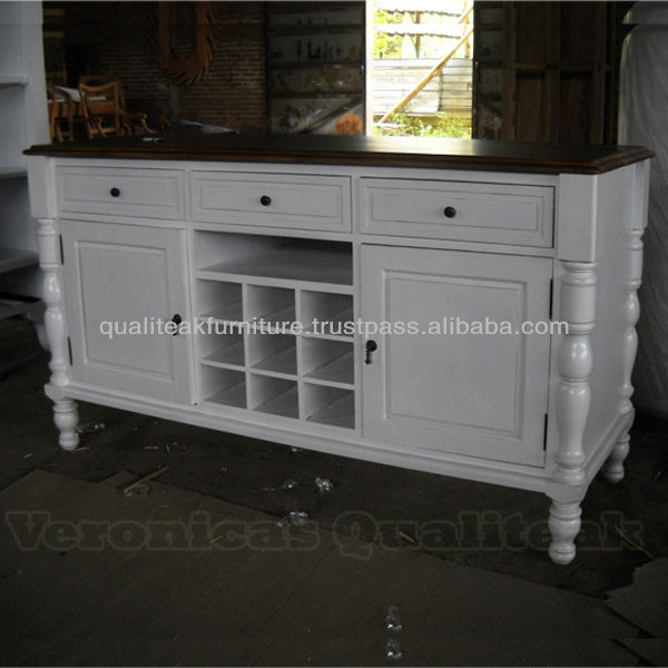 Antique French White Painted Wine Rack Cabinet Sideboards Cabinets Living Room Product On Alibaba