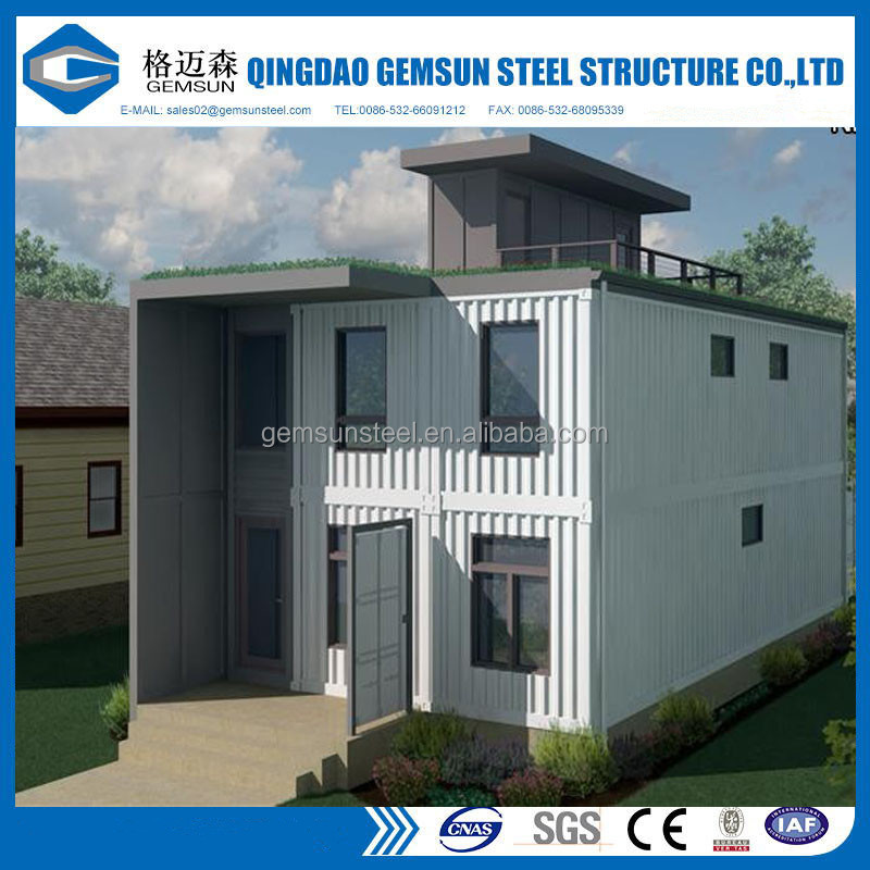 73m2 prefabricatd Single-storey simple container house in Ghana
