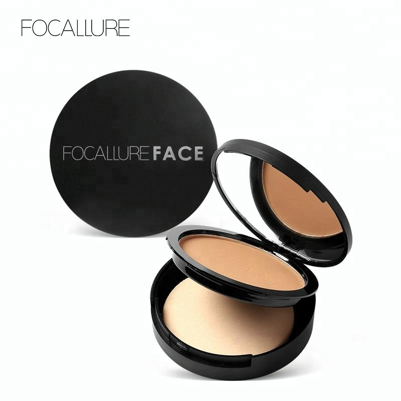 FOCALLURE Hot Selling Face Shimmer Waterproof Makeup Compact Powder