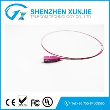 Made in china low loss OM4 Fiber optic Pigtail OM4 SX 0.9mm flexible SM Optical Fiber pigtail