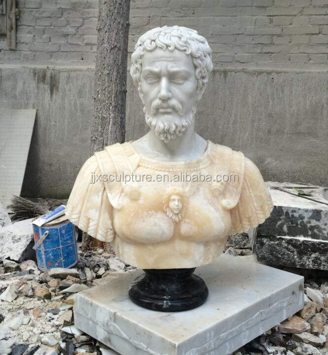 marble greek human bust sculpture