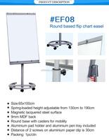 Office School Round Based Flip Chart Easel 65 * 100 Cm Magnetic ...