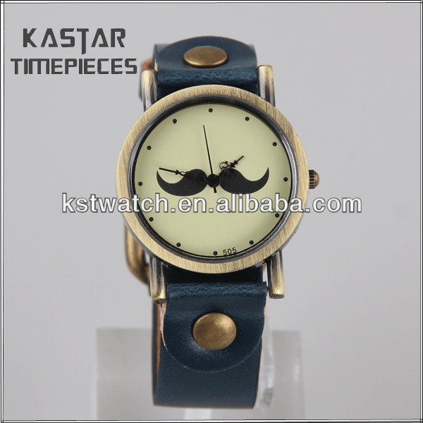 Laides fashion leather wrist watch