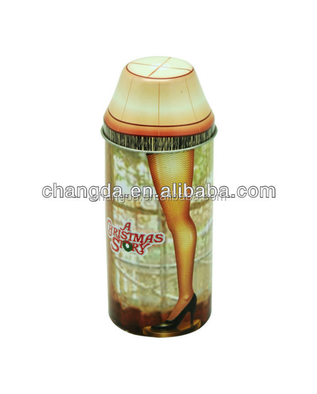 special shape clothing packaging tin can CD-068
