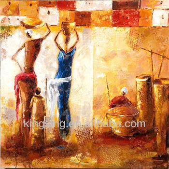 Modern African Women Oil Painting Canvas Art Wall Art - Buy African ...