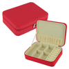 PU Red Leather Jewelry Travel Storage Box