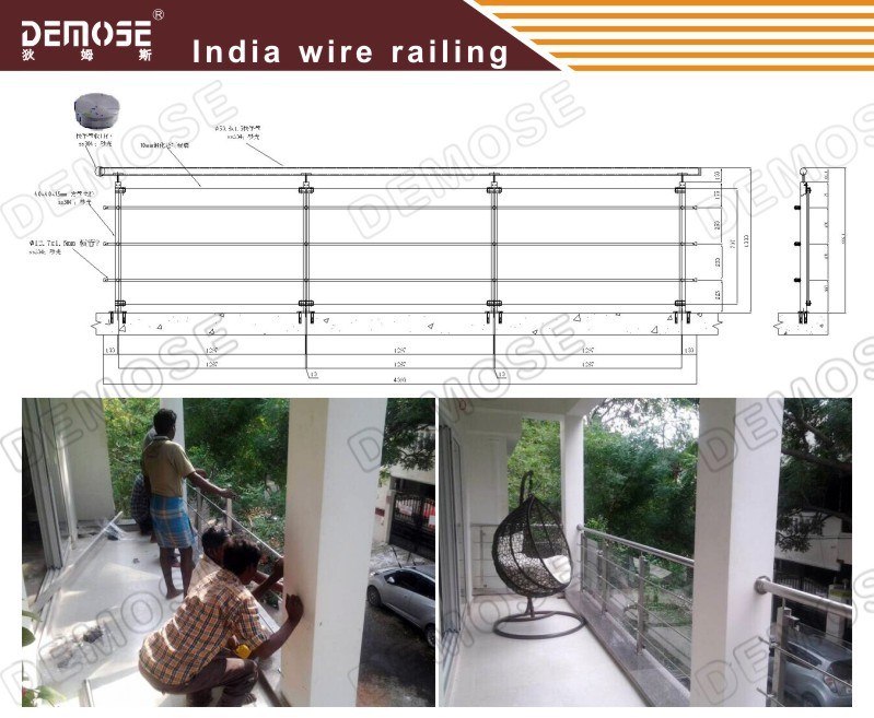 Building materials prefabricated indoor stair stainless for Terrace shed designs india