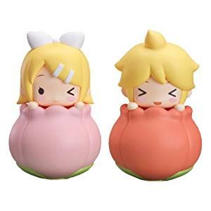 "Whole set of 2 Good Smile lottery Hatsune Miku 2014 Spring Ver. "" C Awards Tulip piggy bank"""
