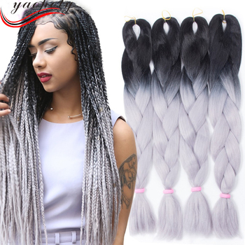 Crochet Box Braids Extensions Styles Braiding Hair For Black Women