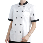 Wholesale professional chef uniform customized restaurant chef coat kitchen cooking wear